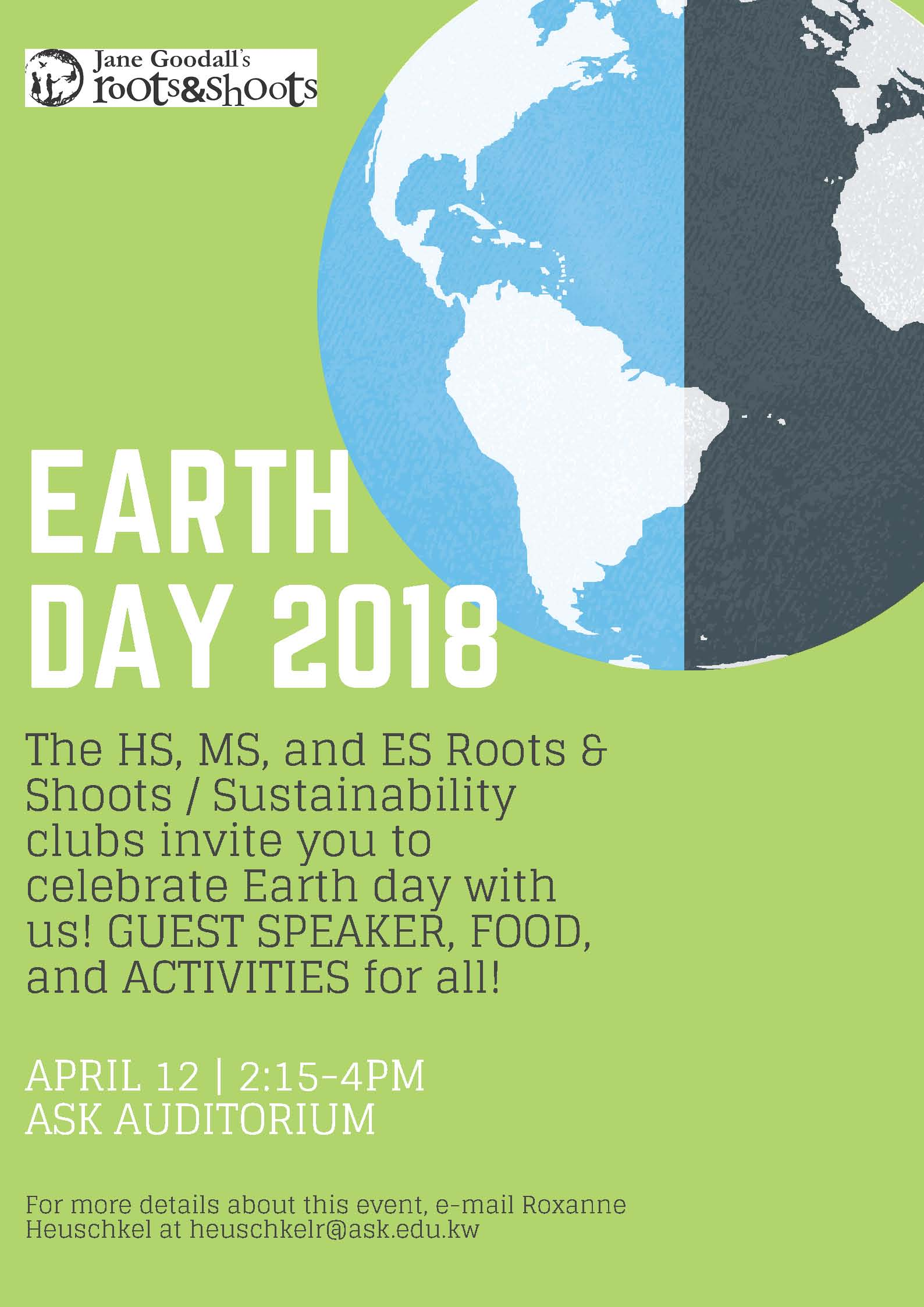 Earth Day Event | ASK High School Office Blog